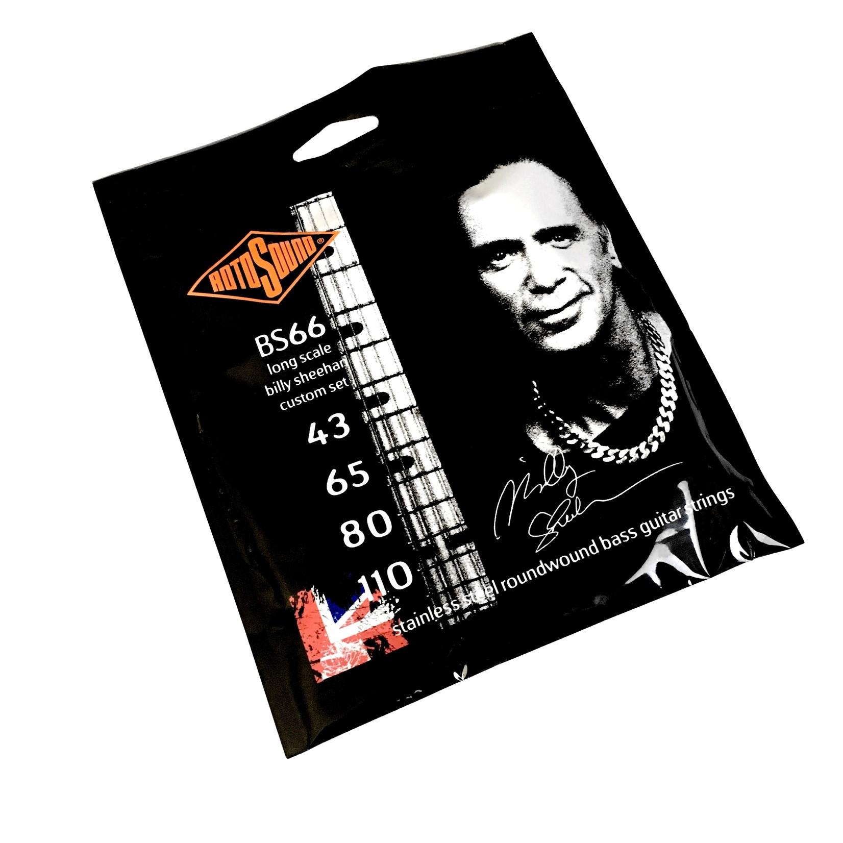 Rotosound Rotosound BS66 Billy Sheehan Custom Bass Strings, Long Scale, Stainless Steel Roundwound