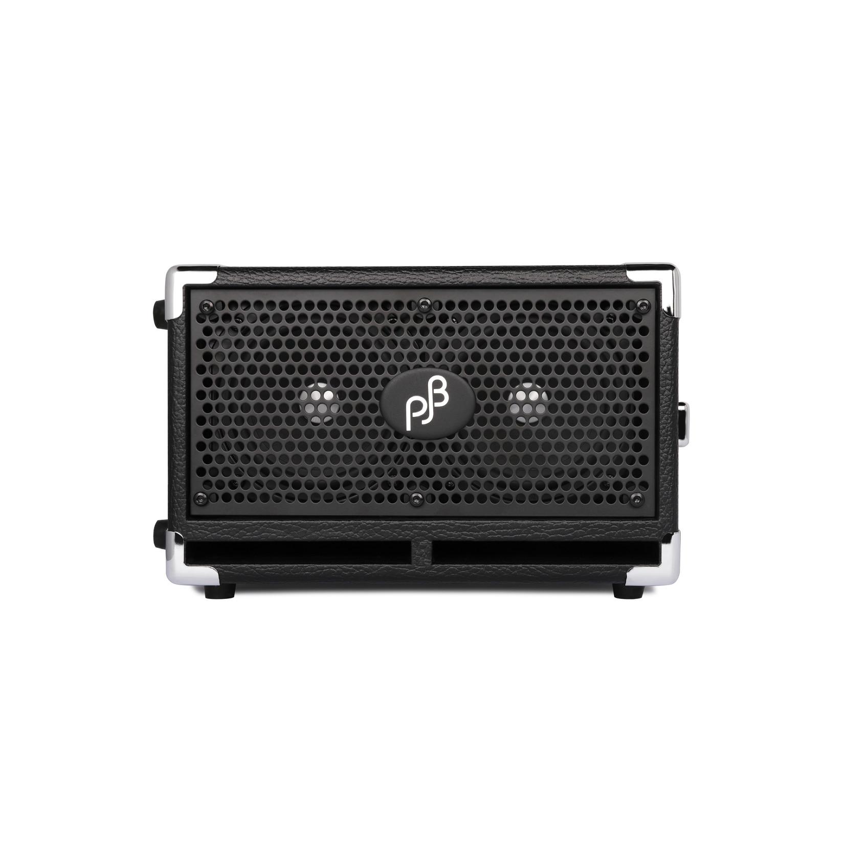 "Phil Jones Phil Jones Compact 2 (C2), 200W 2 x 5"", 8-ohm, 40Hz-15KHz, ""Piranha"" Series Bass Cabinet, Black"