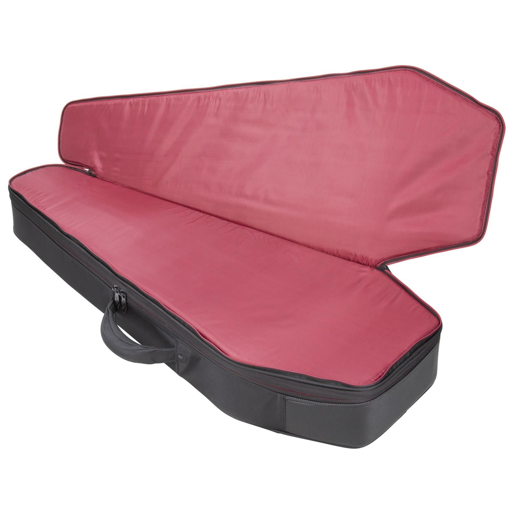 Coffin Case Coffin Chimera Series Electric Guitar Hybrid Case (Rigid Plush Gig Bag), Black