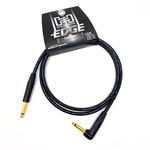 "Hosa Hosa Edge 5-foot premium (top tier) Guitar Cable, Neutrik Connectors, 1/4"" Straight-Angle, Black"