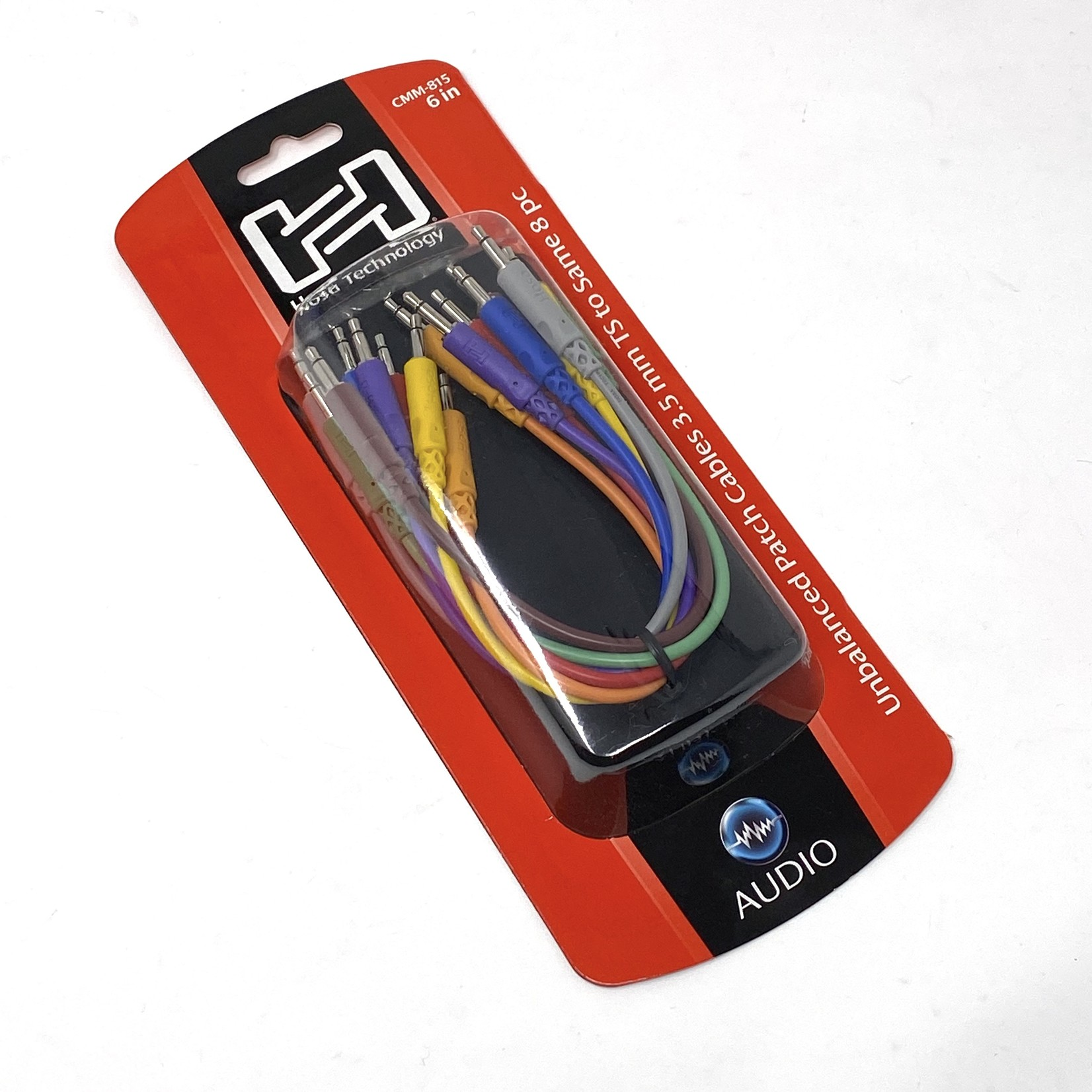 Hosa Hosa CMM-815, 3.5mm TS (unbalanced/mono) Eurorack Patch Cables 8-pack - 6-inch (Assorted Colors)