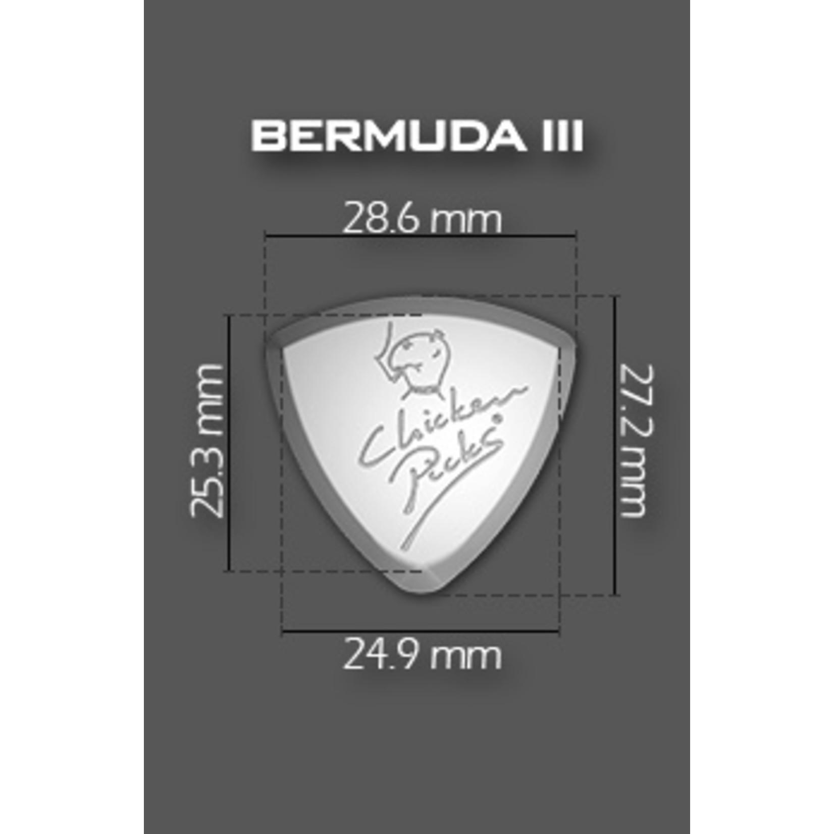 "ChickenPicks Guitar Picks ChickenPicks 1x ""Bermuda III"" 2.7mm - Ultimate tone, performance, control (Chicken Picks)"