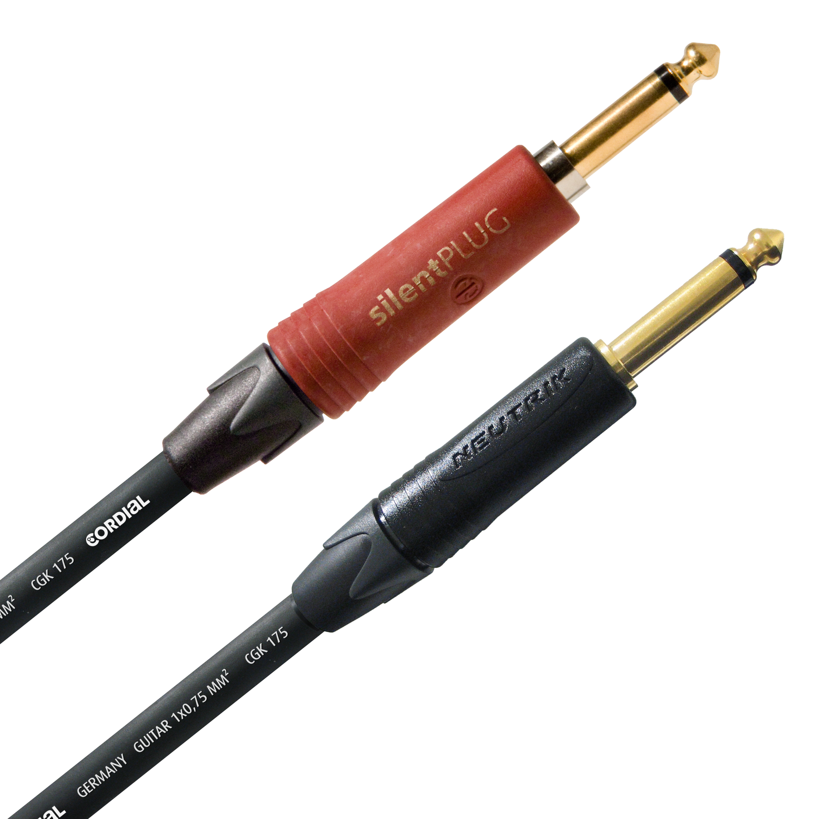 Cordial Cables Cordial 6m /~20ft Premium High-Copper German Instrument Cable, 1/4'' Neutrik Silent, CSI 6 PP-SILENT