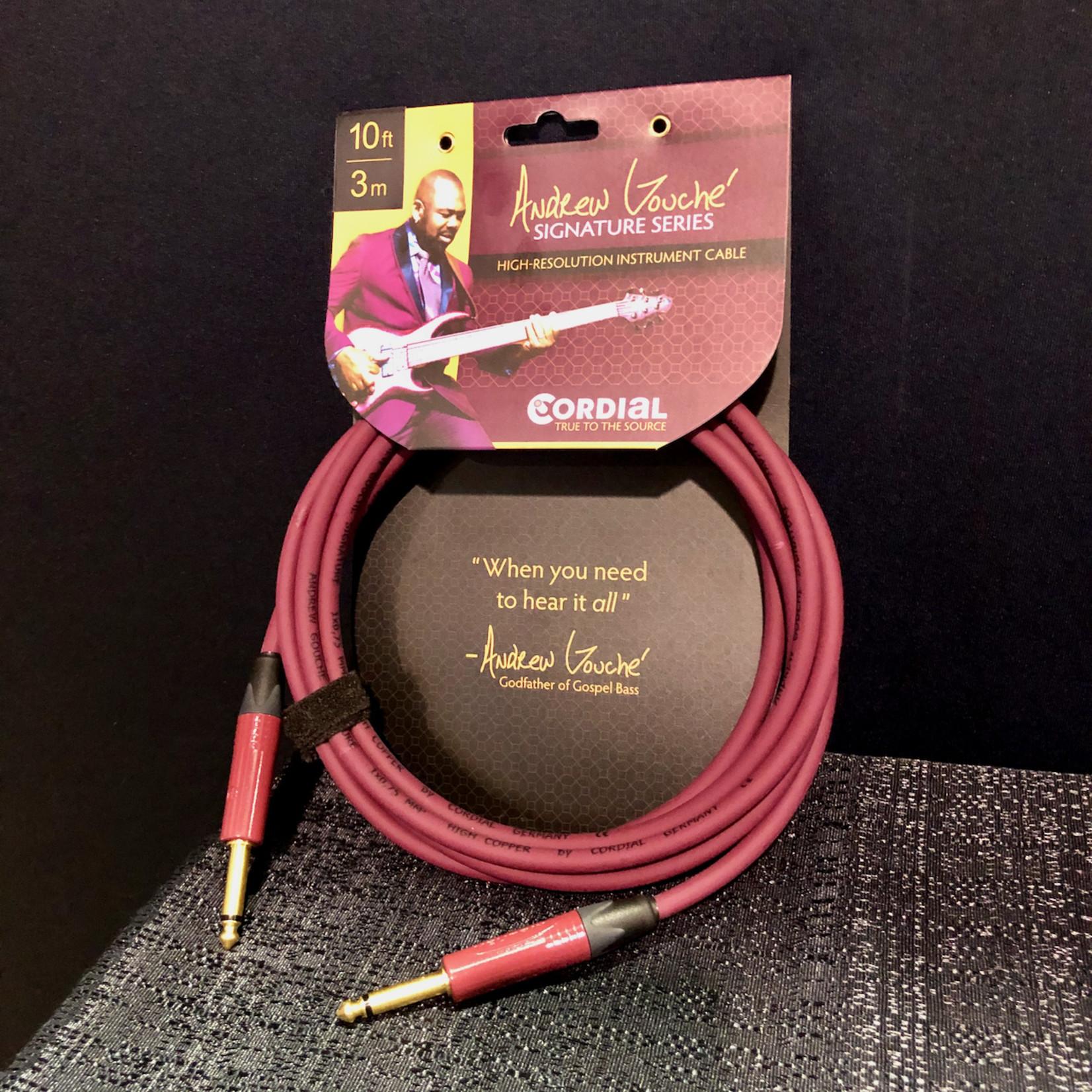 Cordial Cables Cordial CSI 3 PP-Andrew Gouché Signature 10-ft/3m High Resolution Instrument Cable w/ Neutrik Plugs