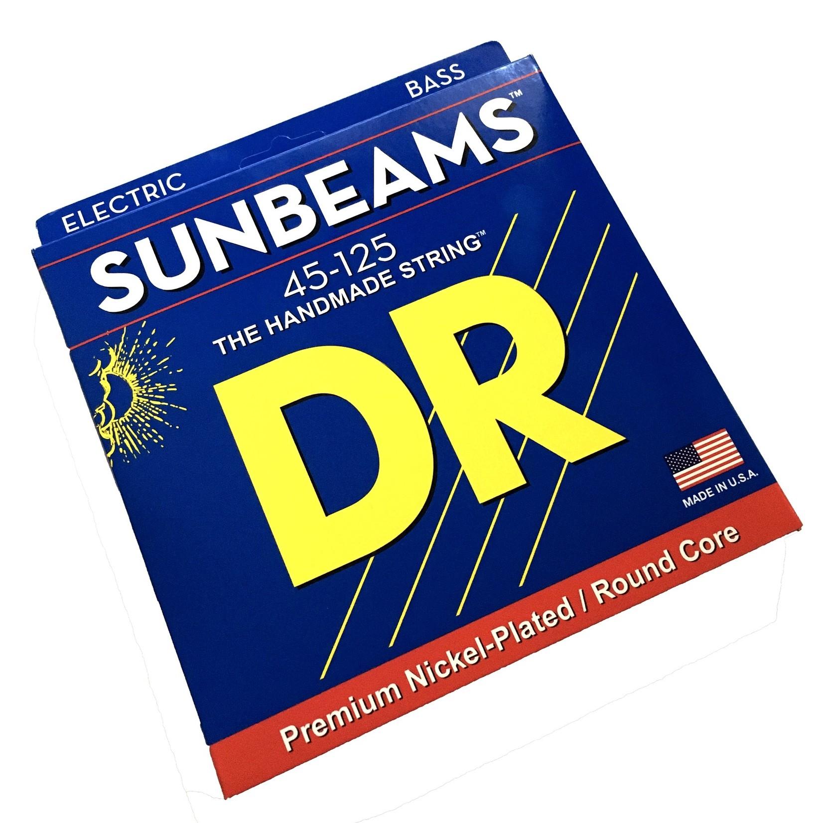 DR Strings DR NMR5-45 Sunbeams, 5-String (45-125) Bass Strings, Premium Nickel-Plated / Round Core