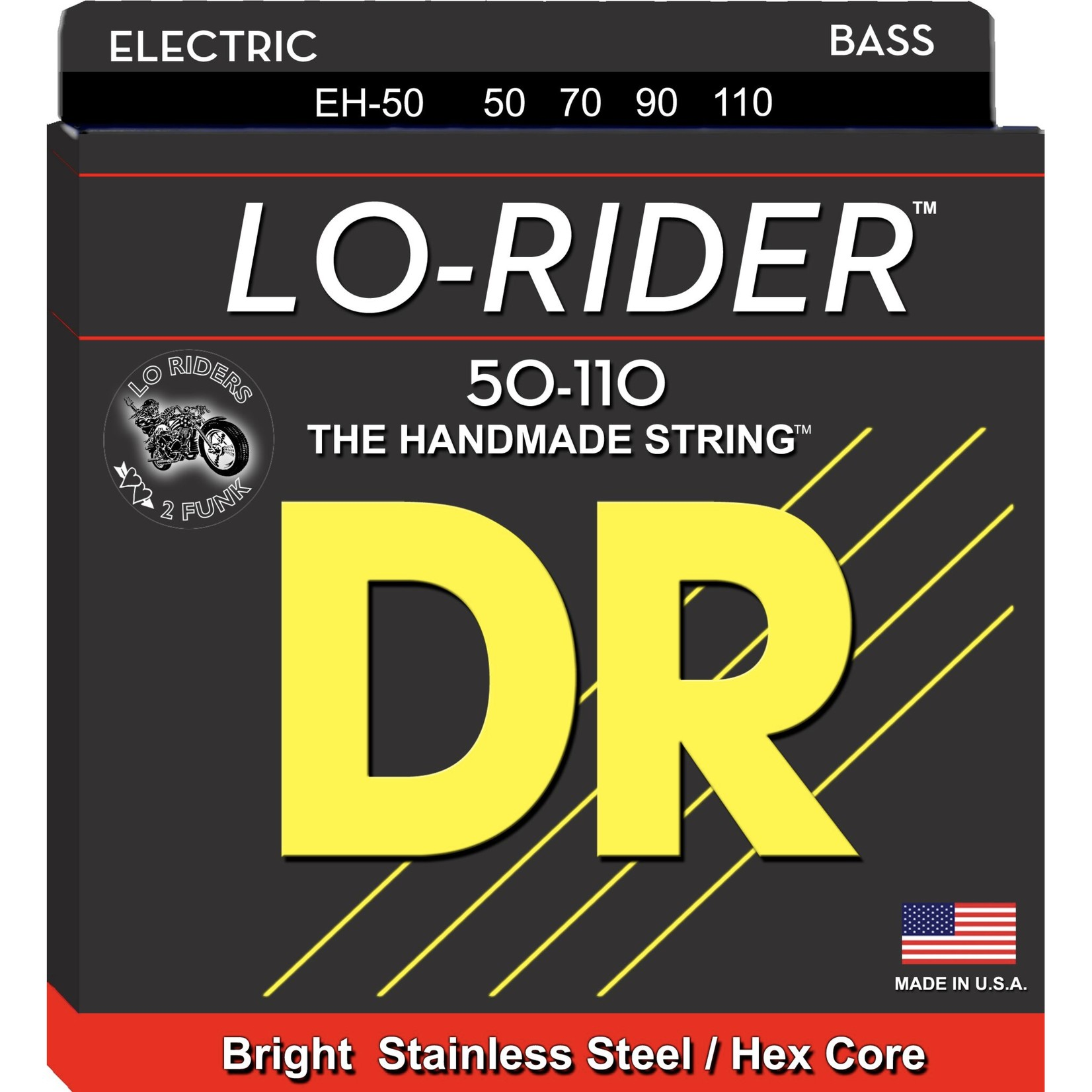 DR Strings DR Strings LO-RIDERª - Stainless Steel Bass Strings: Heavy 50-110, EH-50