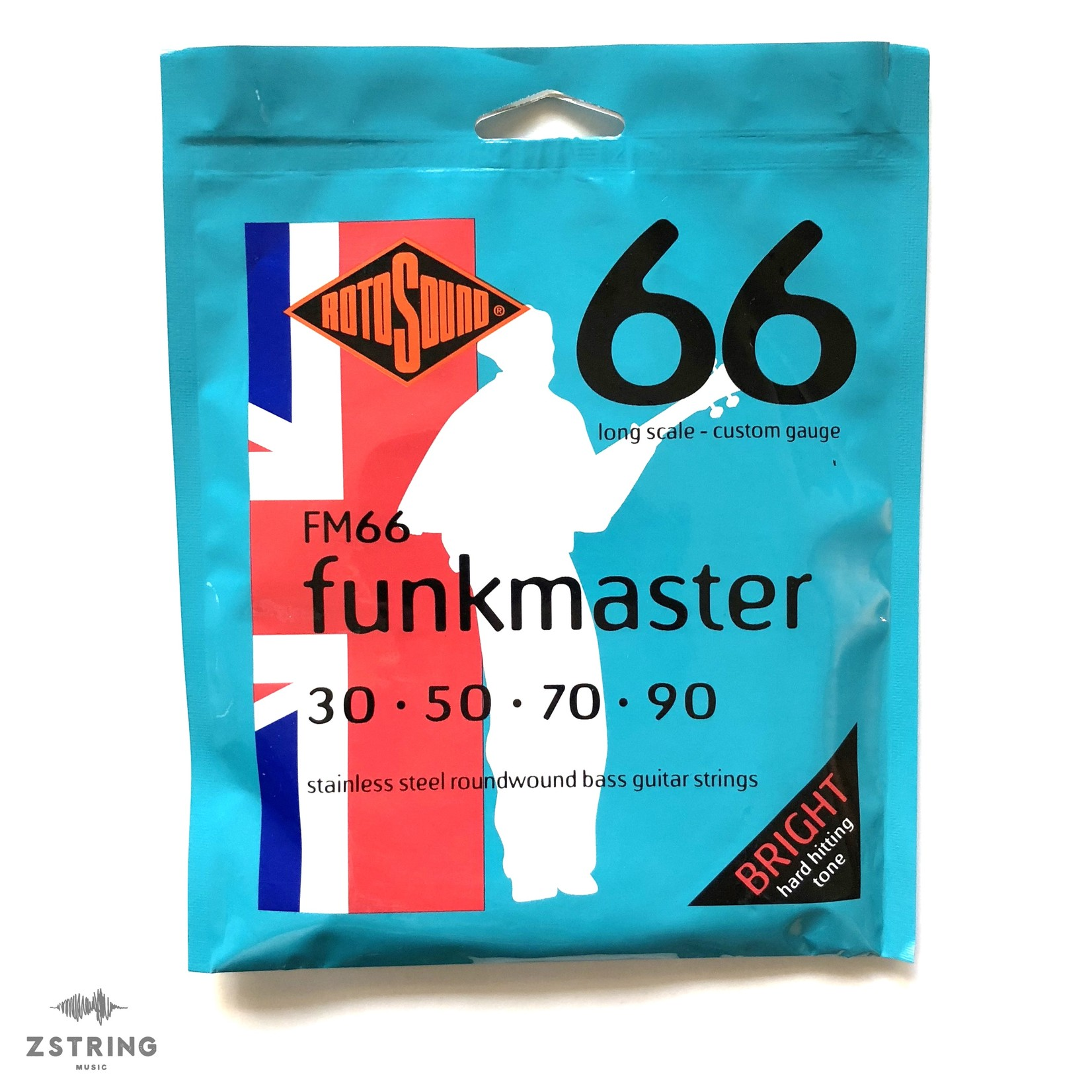Rotosound Rotosound FM66 Funkmaster Stainless Steel Roundwound Bass Strings - Long Scale - Custom Gauge