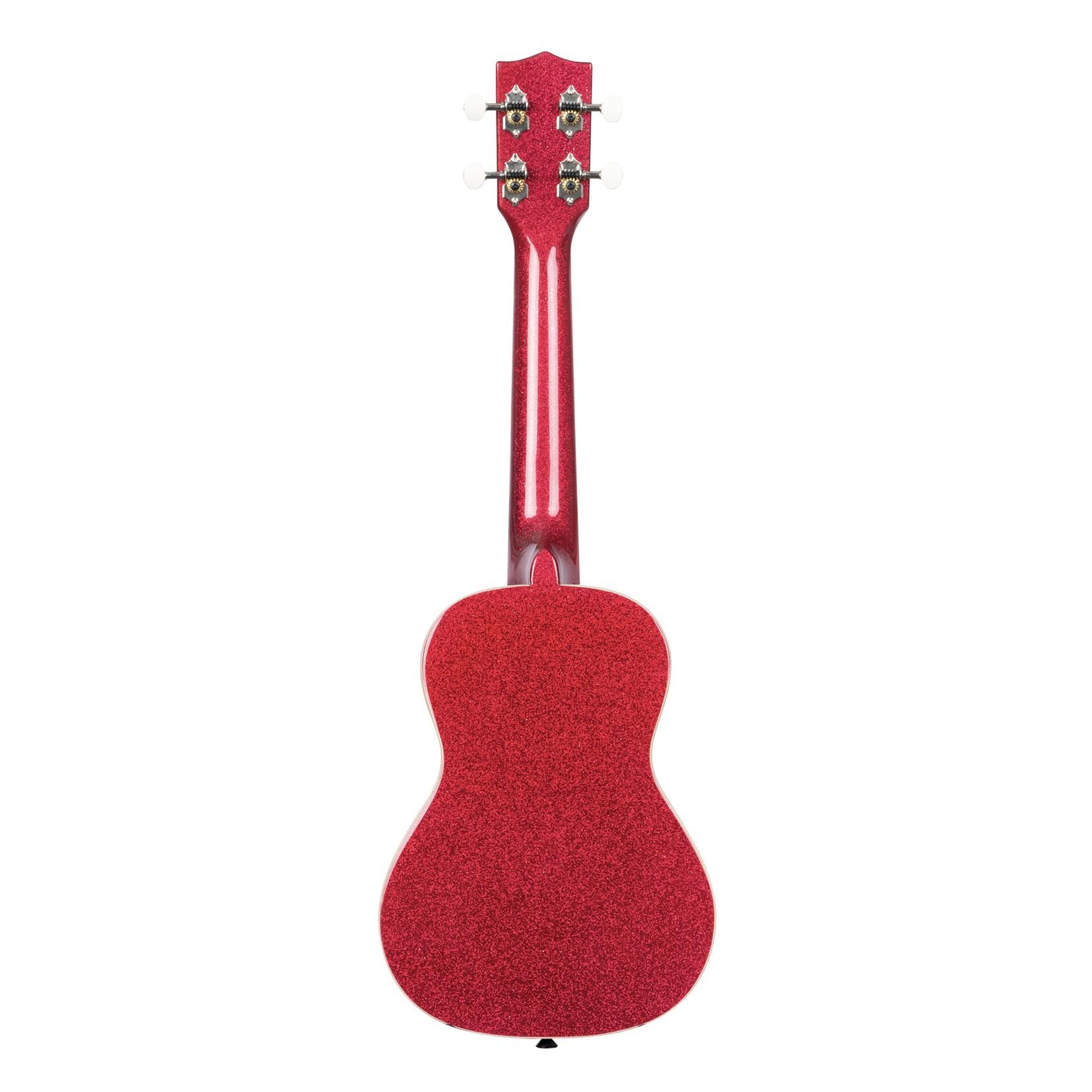 Kala Kala Sparkle Series Concert Ukulele, Ritzy Red