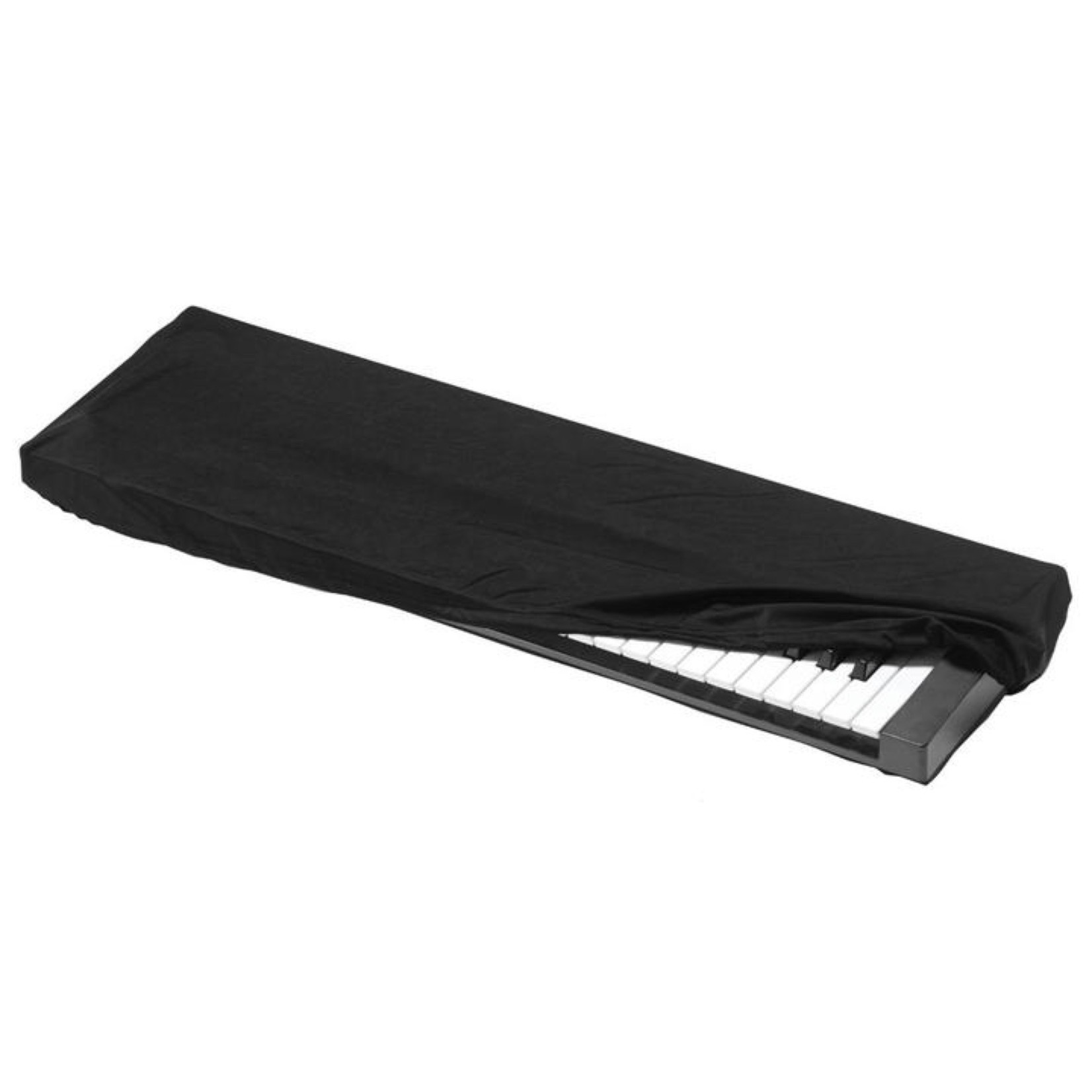 Kaces Kaces KKC-MD Stretchy Keyboard Dust Cover - Medium Black (for 61- and 76-key keyboards)