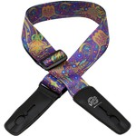 "Lock-It Lock-It Bob Massey Rock Poster Artist Series 2"" Guitar Strap ""Blue Journey"", Retractable Strap-Lock!"