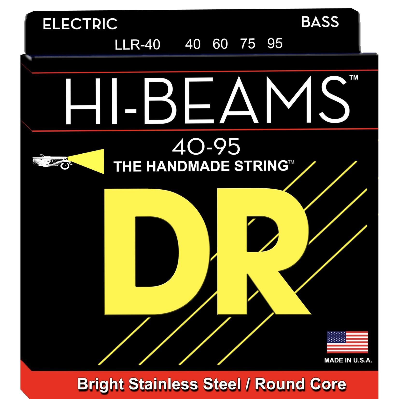 DR Strings DR Strings HI-BEAMª - Stainless Steel Bass Strings: Extra Light 40-95, LLR-40
