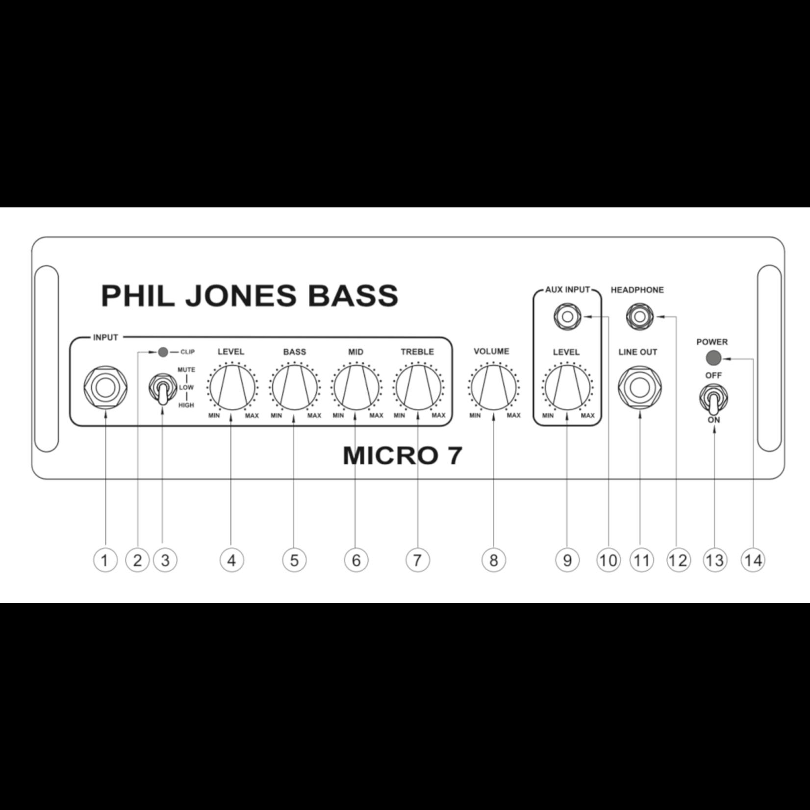Phil Jones Phil Jones Bass Micro 7 - Hi Fidelity 50W Combo Bass Amplifier