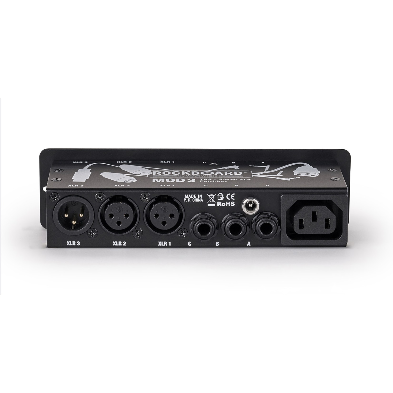 Rockboard Rockboard MOD3 v2 All-in-One TRS & Stereo XLR Patchbay for Vocalists & Acoustic Players