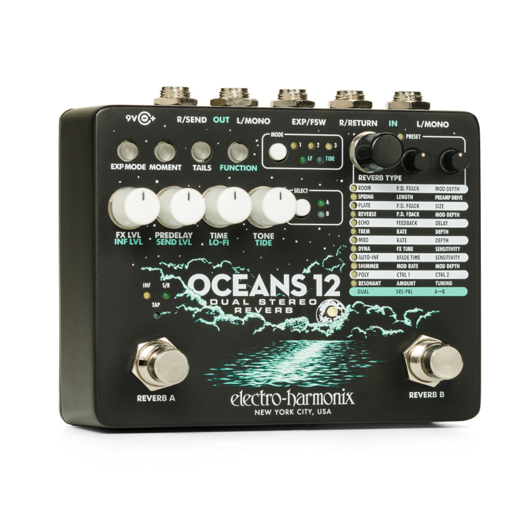 Electro-Harmonix Electro-Harmonix Oceans 12 Dual Stereo Reverb