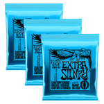 Ernie Ball 3x (3 sets) Ernie Ball 2225 Extra Slinky Nickel Electric Guitar Strings (8-38)