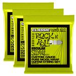 Ernie Ball 3x Ernie Ball Regular Slinky Classic Rock n Roll Pure Nickel Wrap Electric Guitar Strings, 10-46 (P02251)