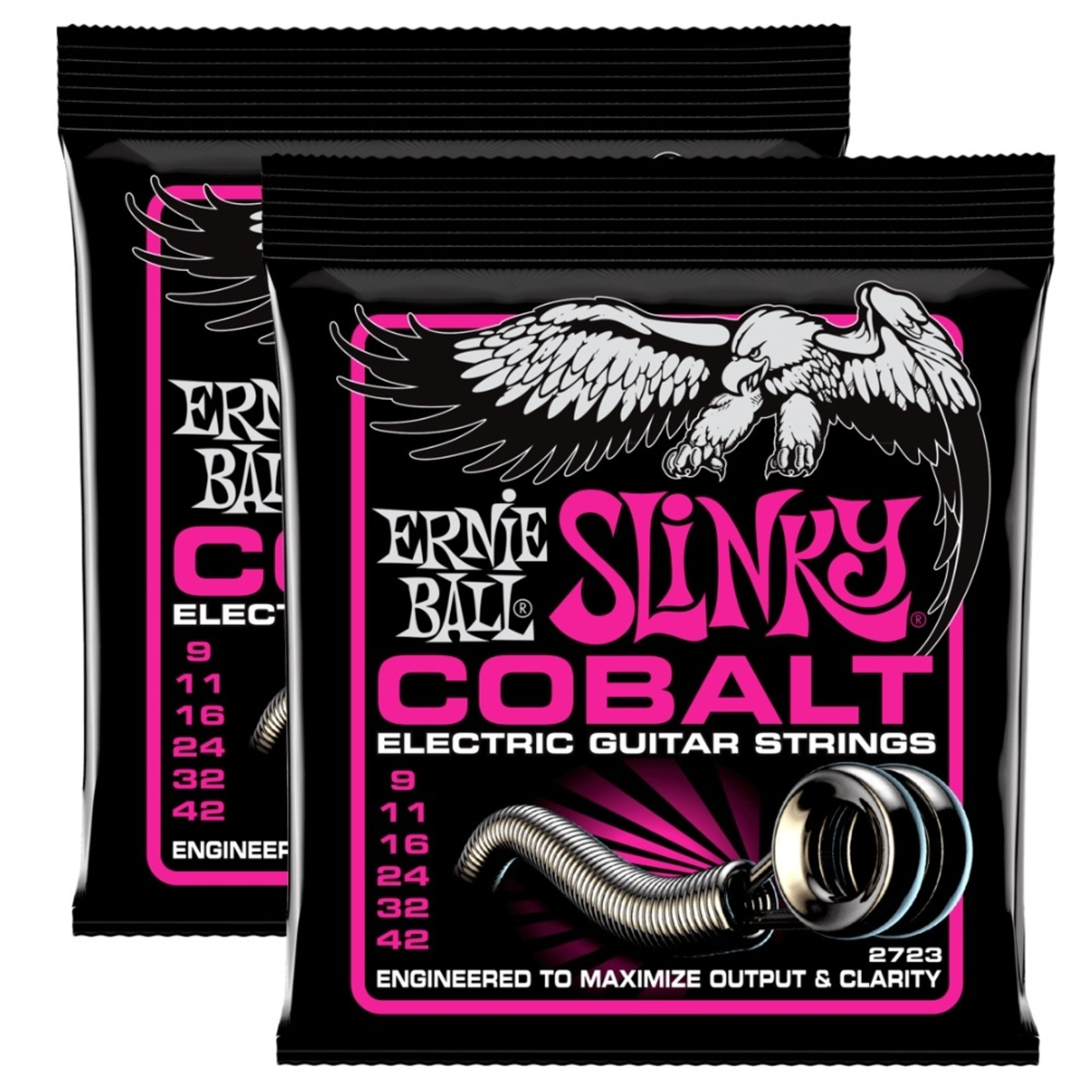 Ernie Ball 2x (2 Sets) Ernie Ball 2723 Cobalt Super Slinky Electric Guitar Strings, .009 - .042