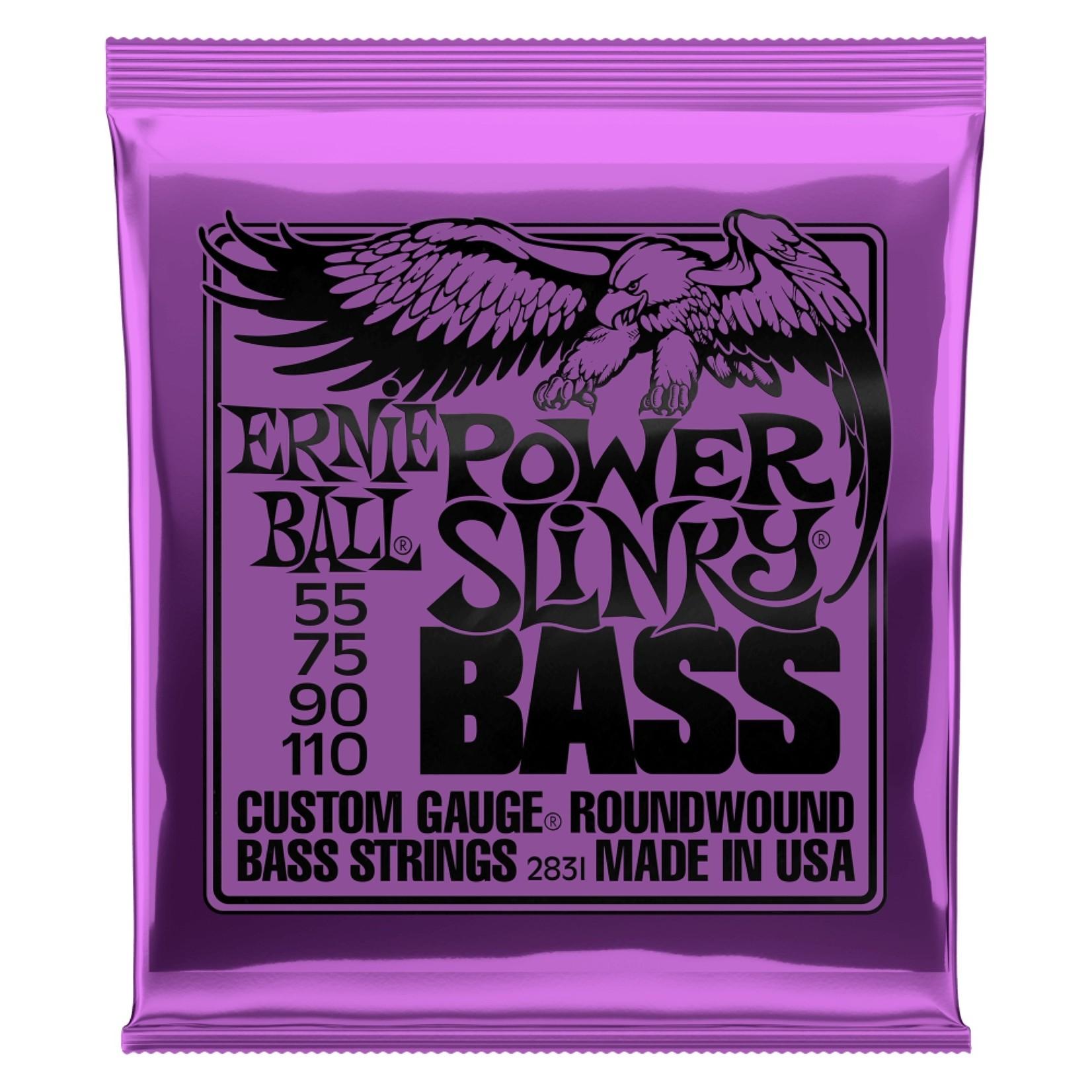 Ernie Ball Ernie Ball 2831 Power Slinky Electric Bass Strings, 4-String Set (55-110)