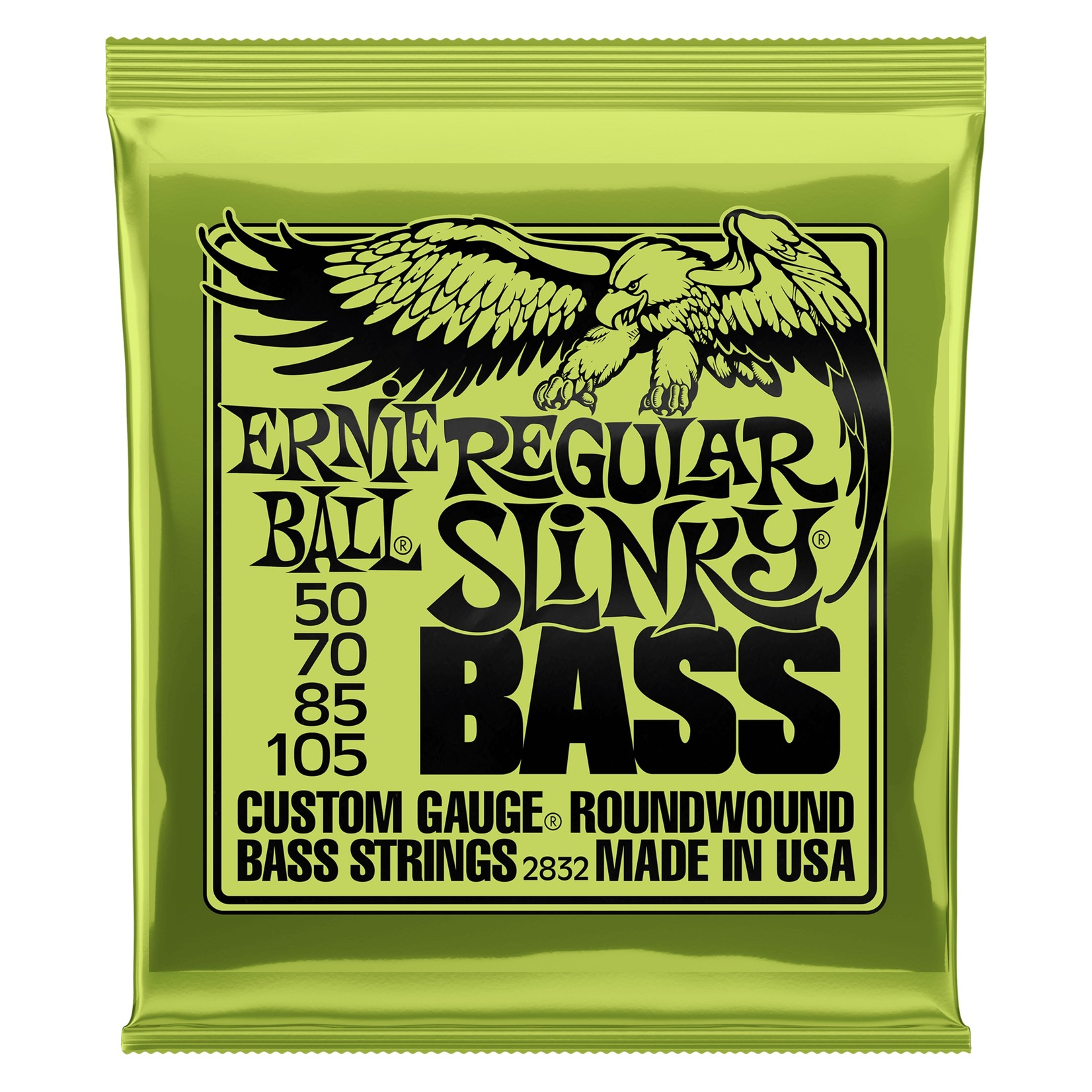 Ernie Ball Ernie Ball 2832 Regular Slinky Round Wound Electric Bass Strings (50-105)