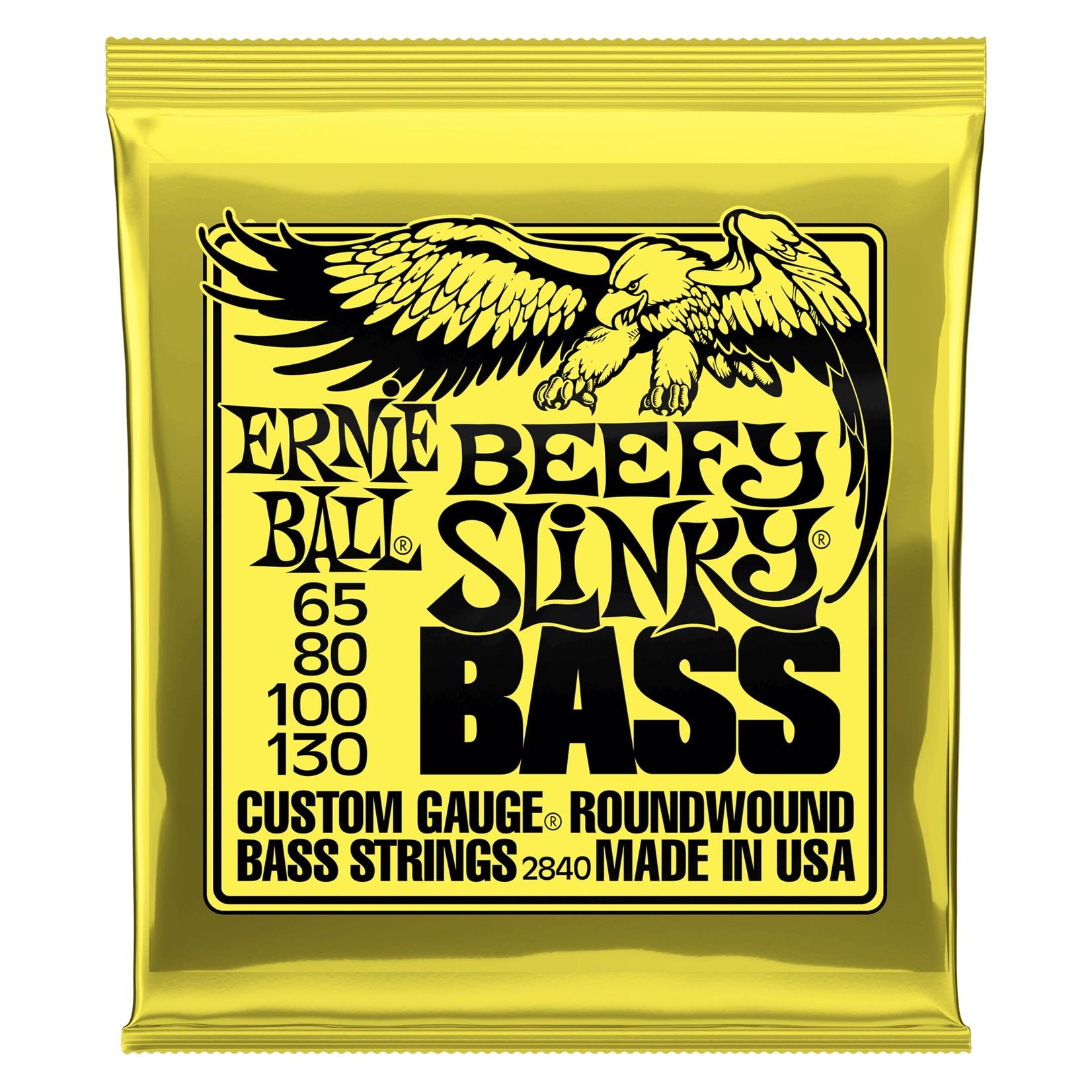 Ernie Ball Ernie Ball Beefy Slinky Nickel Wound Electric Bass Guitar Strings - 65-130 Gauge