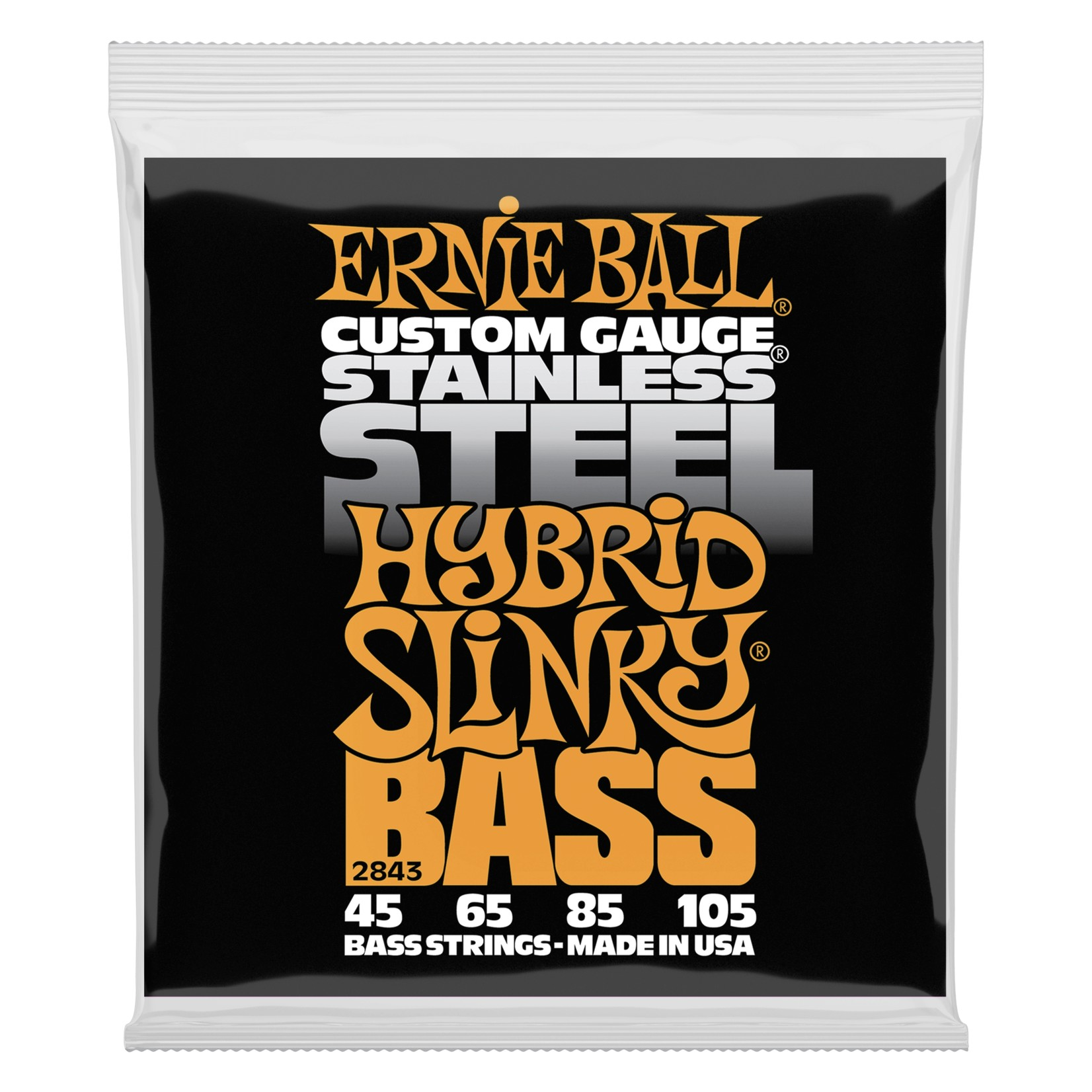 Ernie Ball Ernie Ball 2843 Hybrid Slinky Stainless Steel Electric Bass Strings (45-105)