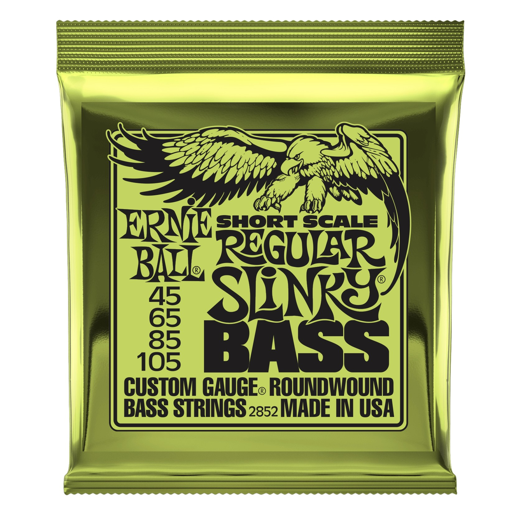 Ernie Ball Ernie Ball Regular Slinky Nickel Wound Short Scale Bass Strings - 45-105 Gauge