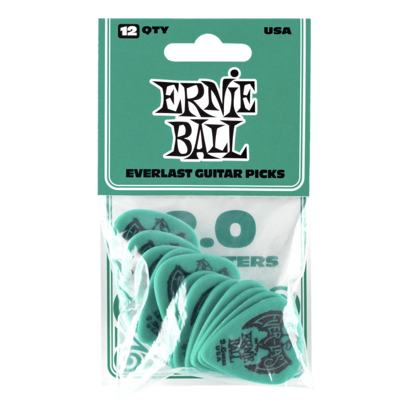Ernie Ball Ernie Ball 2.0mm Teal Everlast Picks 12-pack (P09196)