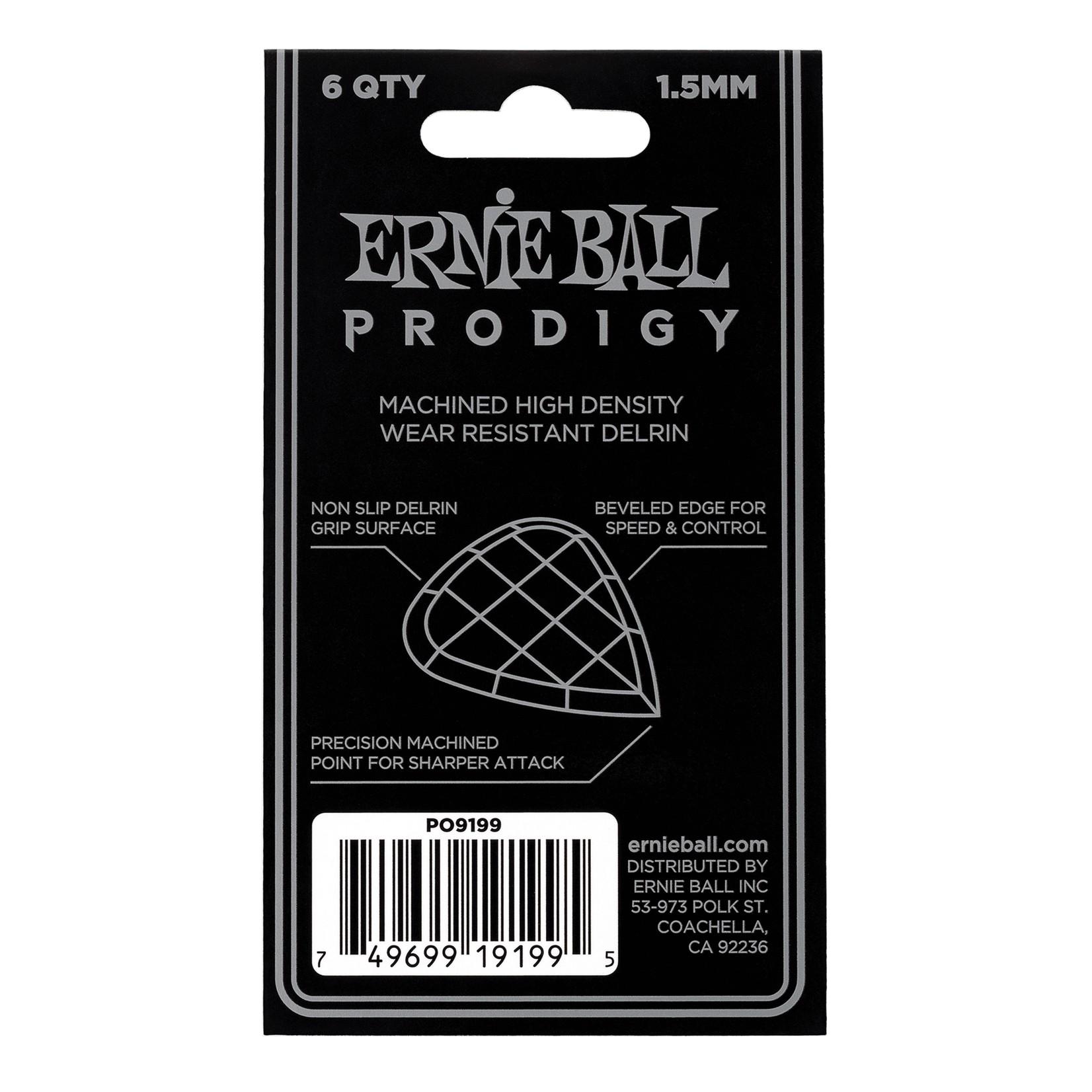 Ernie Ball Ernie Ball 1.5mm Black Standard Prodigy Picks 6-Pack (P09199)