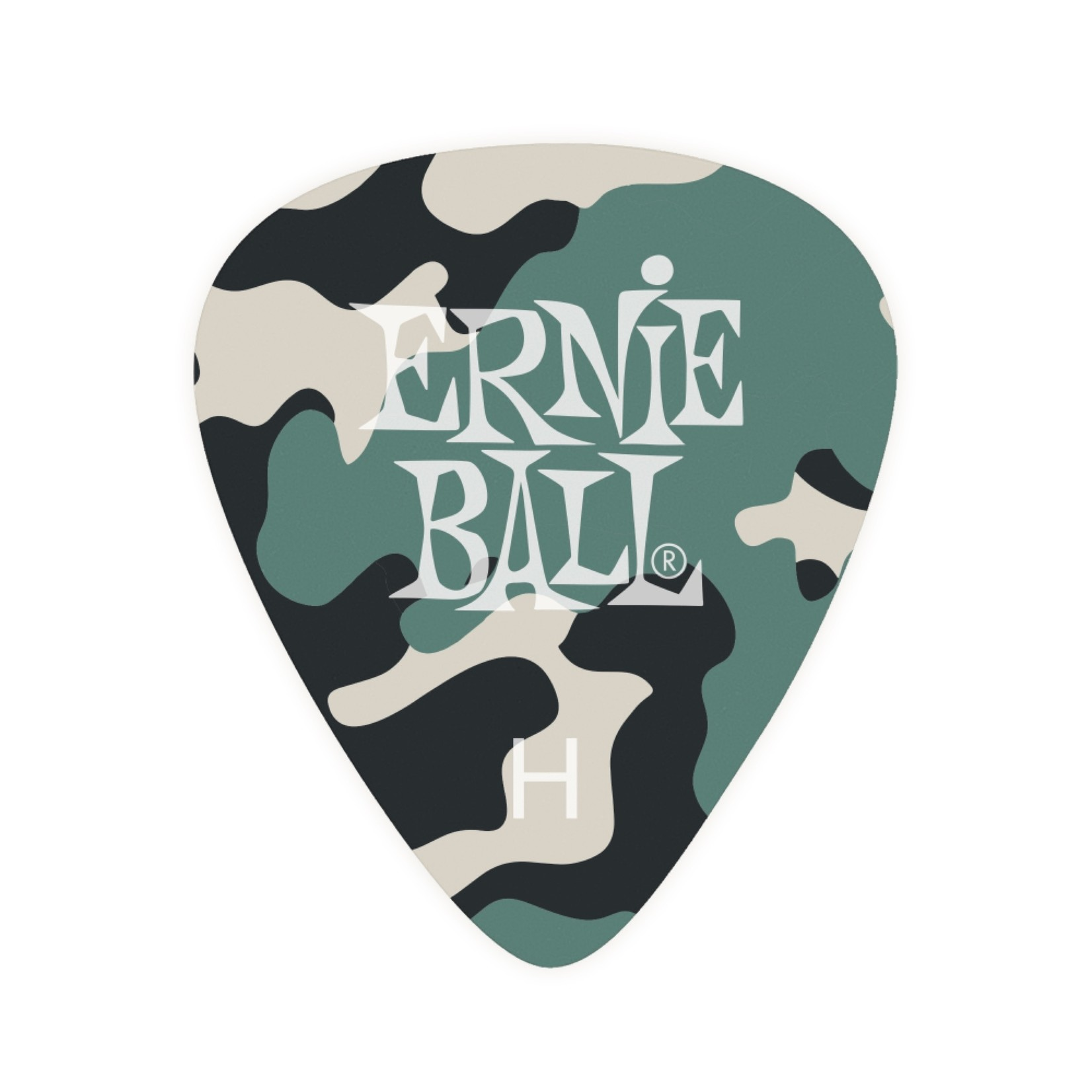 Ernie Ball Ernie Ball Camouflage Cellulose Picks Heavy 12-pack