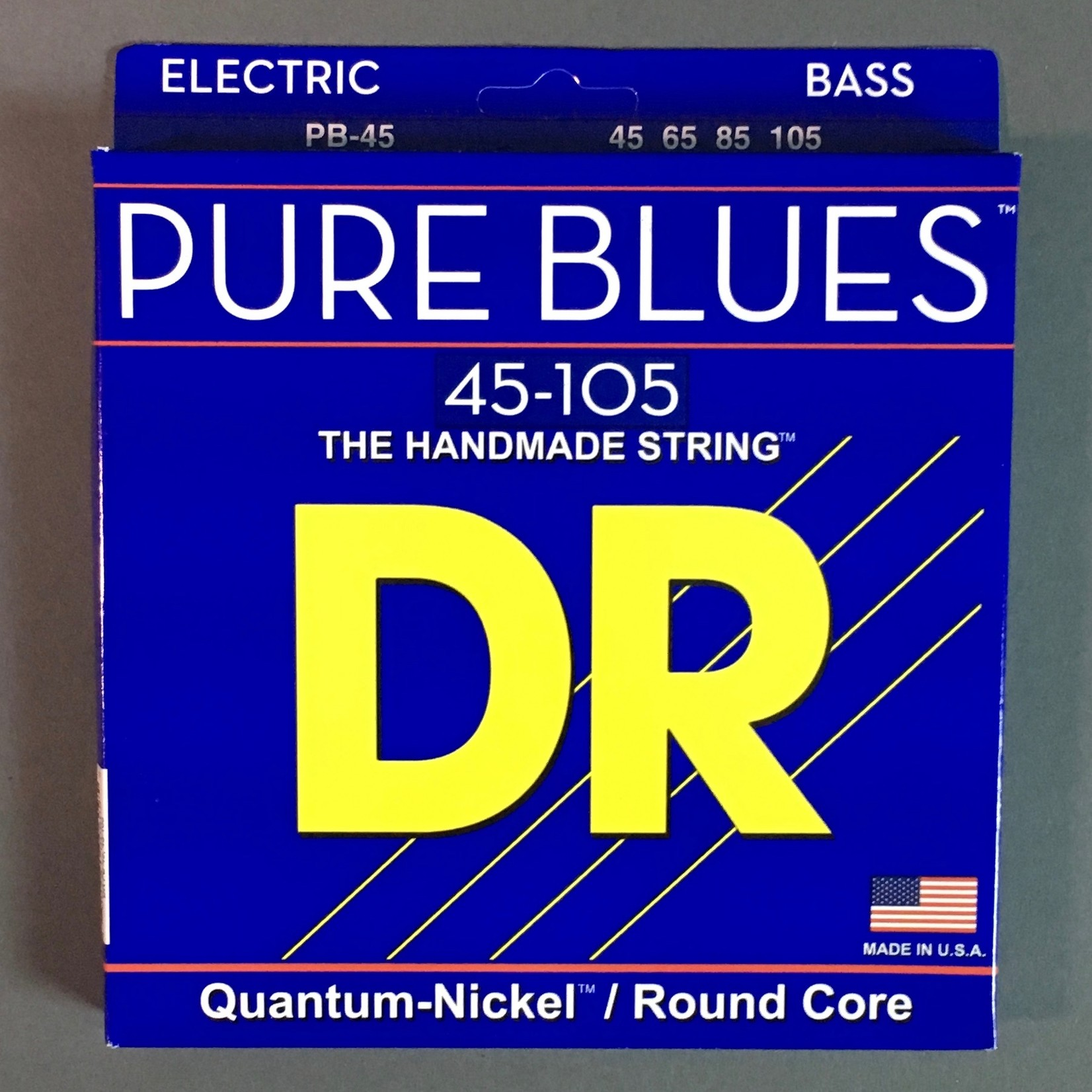 DR Strings DR Strings Pure Blues 45-105 Bass Guitar Strings (PB-45), Quantum-Nickel / Round Core