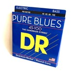 DR Strings DR Strings PB-45/100 Pure Blues Bass Strings (45 65 80 100), Quantum-Nickelª / Round Core