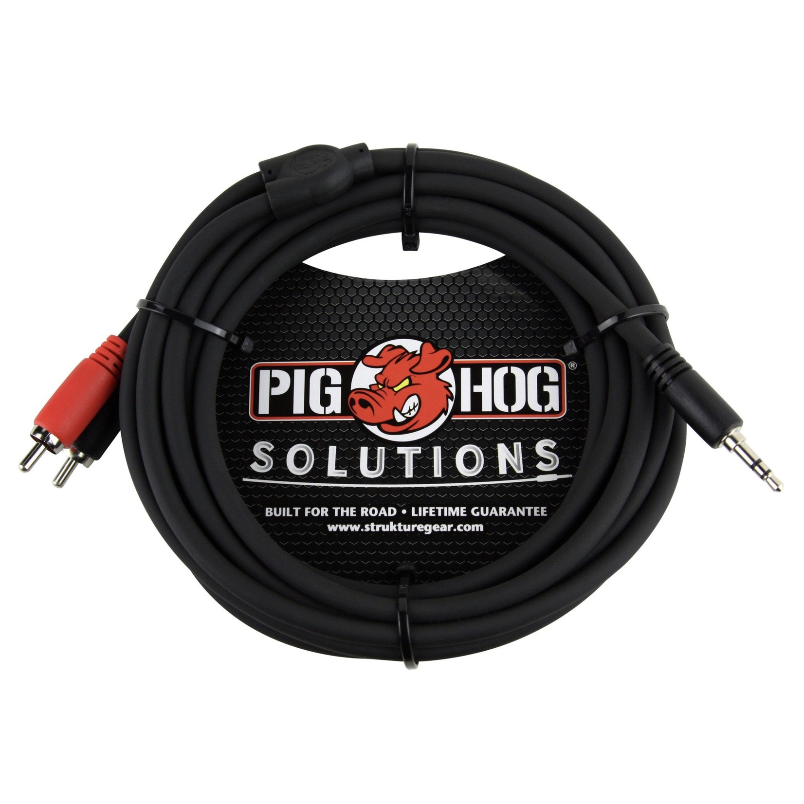 Pig Hog Pig Hog Solutions - 10-Foot Stereo Breakout Cable, 3.5mm mini plug to Dual RCA (PB-S3R10)