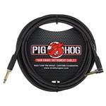 "Pig Hog Pig Hog ""Black Woven"" 10-Foot Tour Grade Instrument Cable, Right Angle (PCH10BKR)"