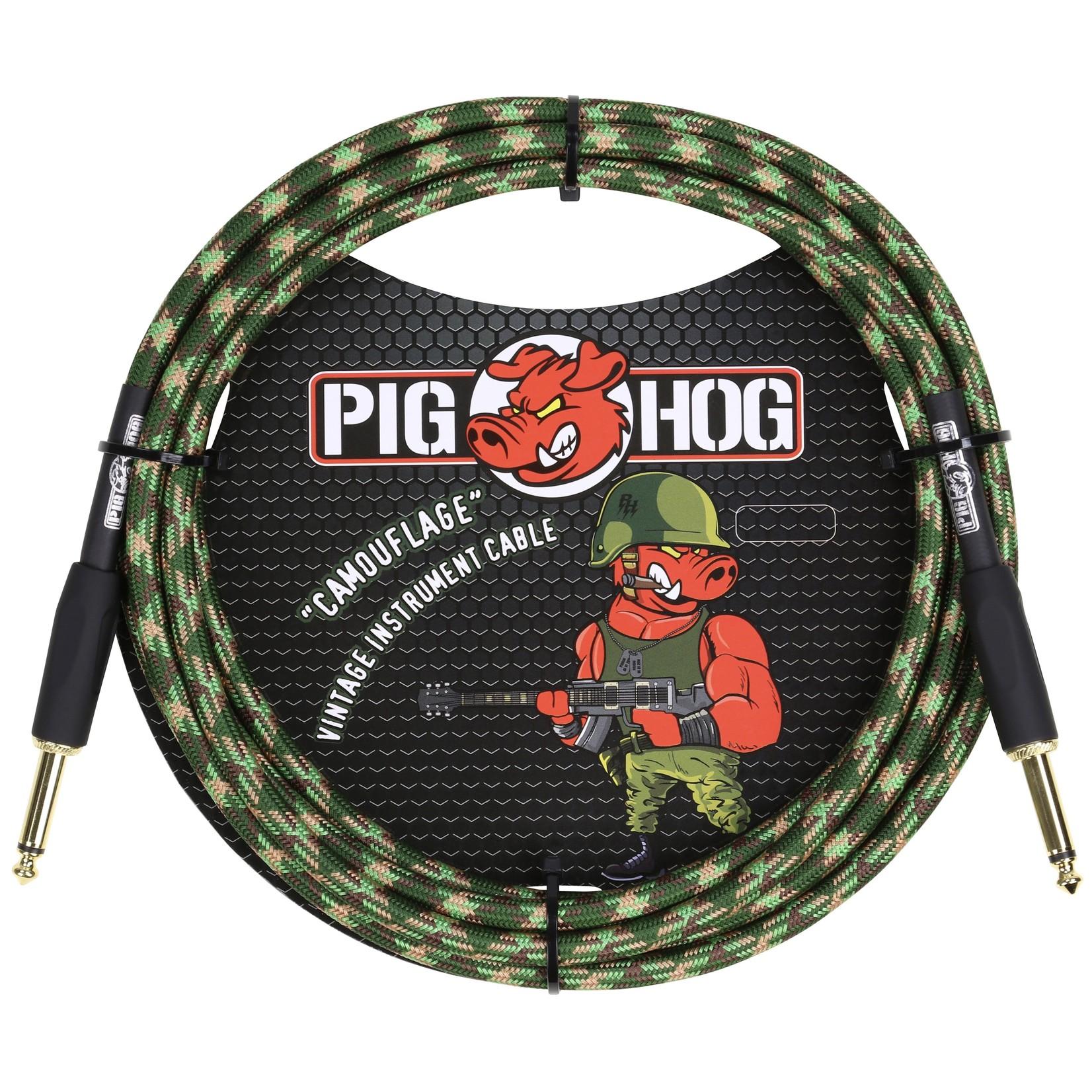 """Pig Hog Pig Hog """"Camouflage"""" Vintage Instrument Cable, 10ft Straight (PCH10CF)"""