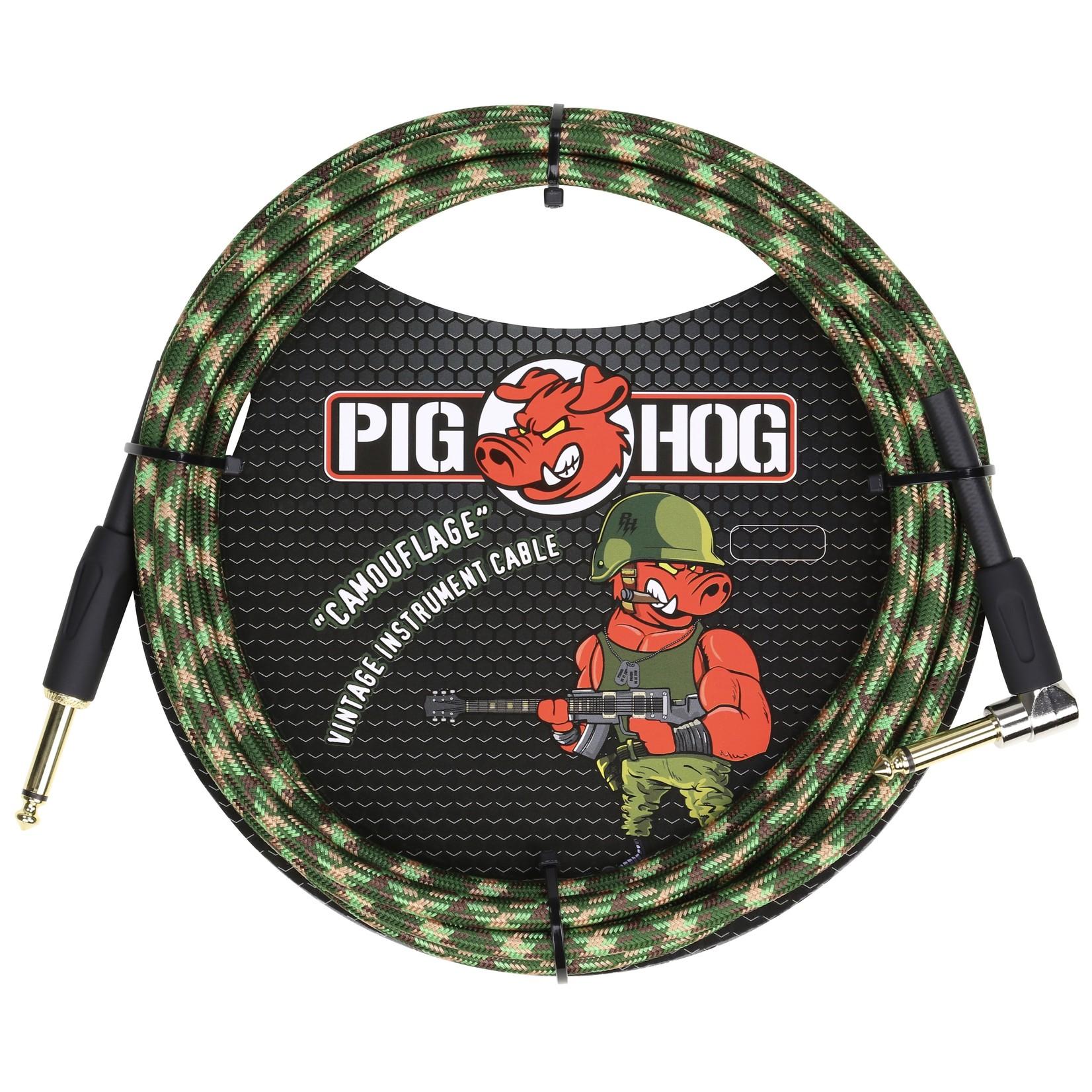 """Pig Hog Pig Hog """"Camouflage"""" Vintage Instrument Cable, 10ft Right Angle (PCH10CFR)"""