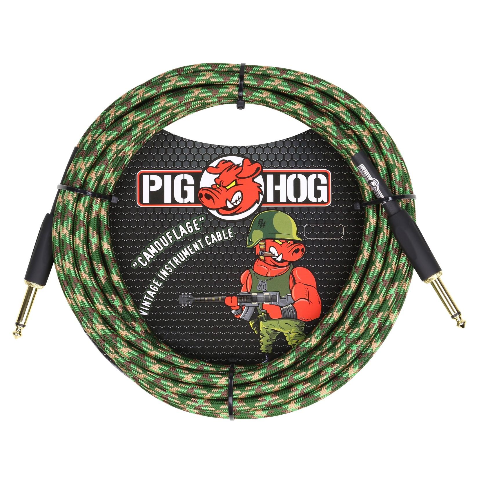 """Pig Hog Pig Hog """"Camouflage"""" Vintage Instrument Cable, 20ft Straight (PCH20CF)"""