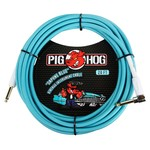 """Pig Hog Pig Hog """"Daphne Blue"""" 20-Foot Vintage Instrument Cable - Right Angle (PCH20DBR)"""