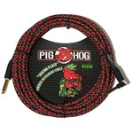 "Pig Hog Pig Hog ""Tartan Plaid"" Vintage Woven Instrument Cable - 20 FT Right Angle (PCH20PLR)"