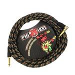 "Pig Hog Pig Hog ""Rasta Stripes"" Vintage Woven Instrument Cable - 20-foot Right Angle (PCH20RAR), Reggae"