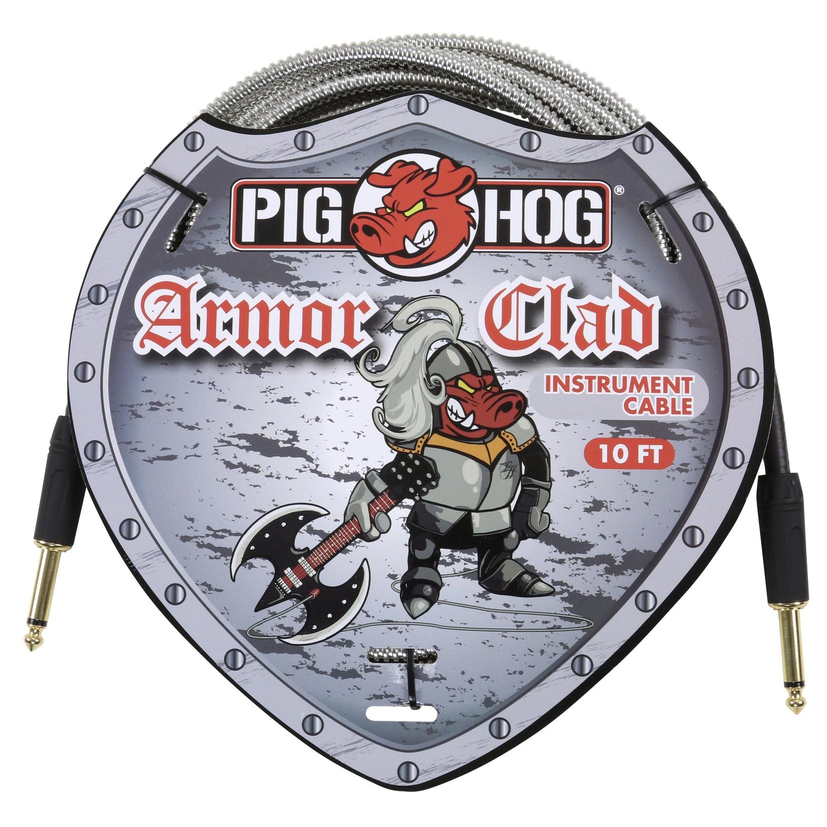 "Pig Hog Pig Hog ""Armor Clad"" Instrument Cable, 10 ft  -Vintage Series  Industrial Conduit-Style Metal Jacket"