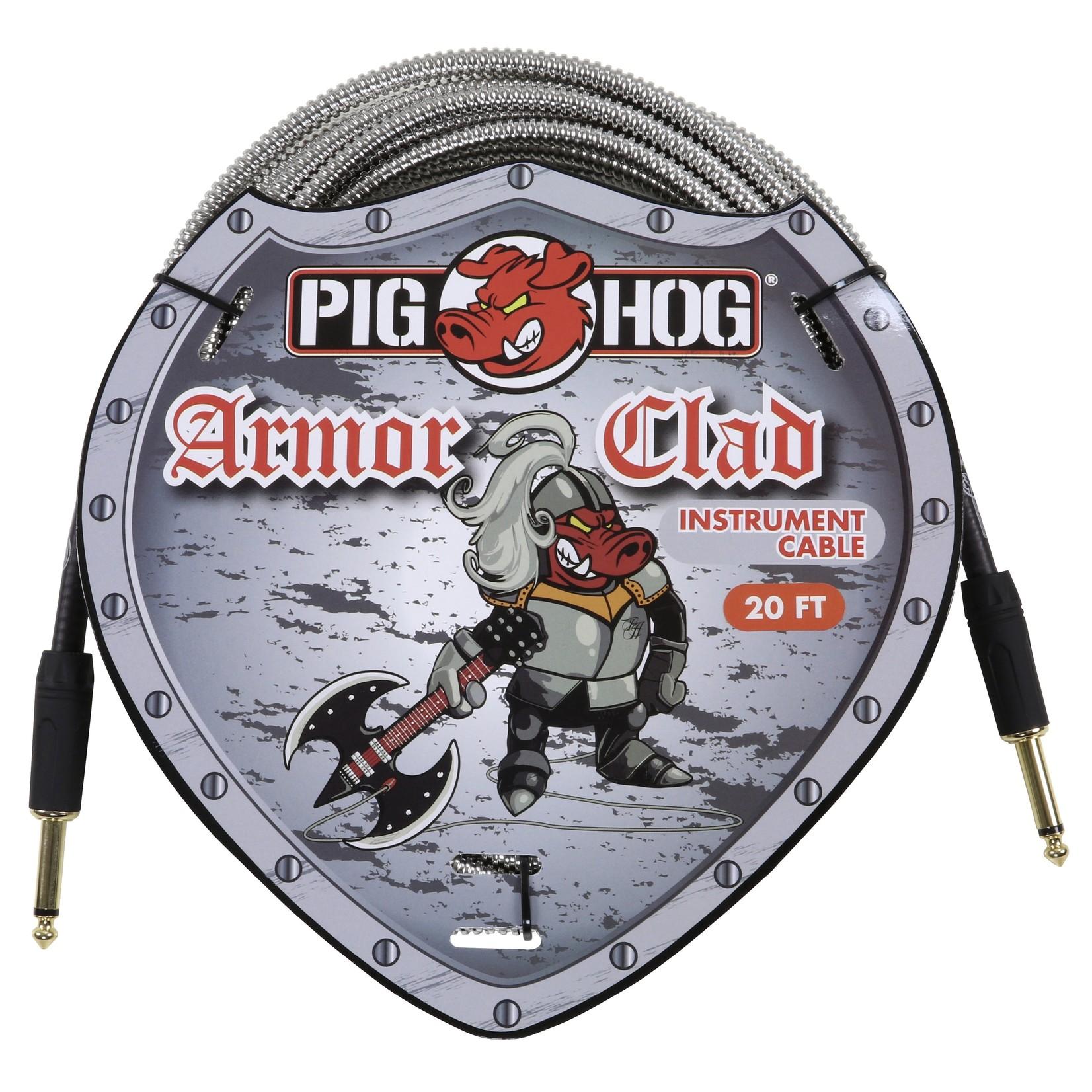 "Pig Hog Pig Hog ""Armor Clad"" Instrument Cable, 20 ft -Vintage Series Industrial Conduit-Style Metal Jacket"