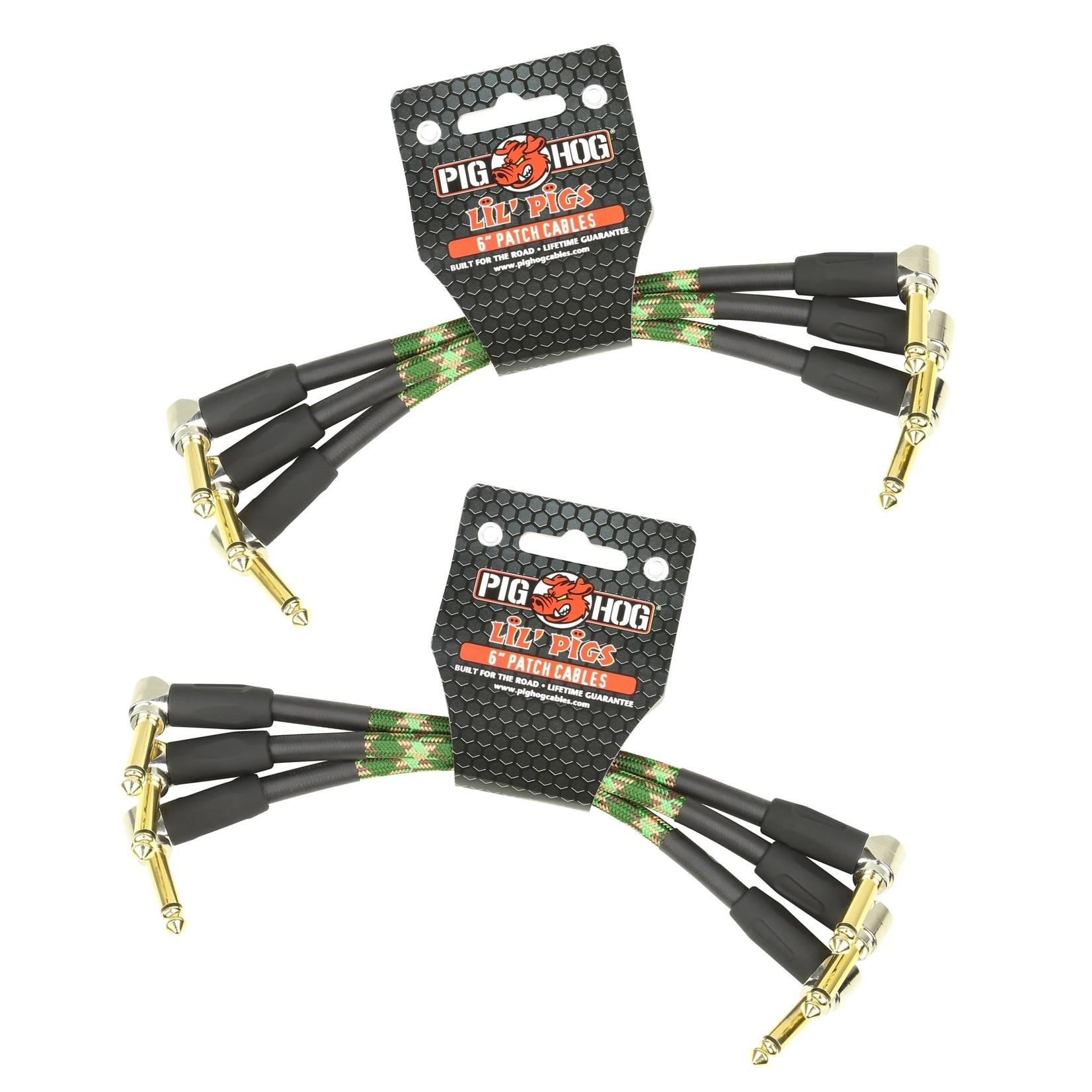 Pig Hog Pig Hog Camouflage Pedalboard Makeover Kit - 6-Pack of Patch Cables (2x PHLIL6CF)