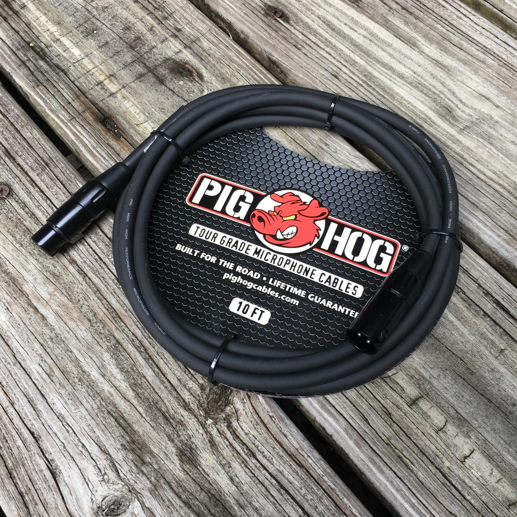 Pig Hog Pig Hog 8mm Tour Grade Microphone Cable, 10ft XLR (PHM10)