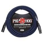 Pig Hog Pig Hog Black & Blue Woven Mic Cable, 20ft XLR (PHM20BBL) (20-foot, 20')