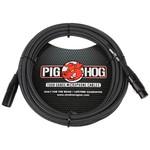 Pig Hog Pig Hog Black & White Woven Tour Grade Mic Cable, 20ft XLR (PHM20BKW)