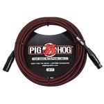 Pig Hog Pig Hog Black & Red Woven Tour Grade Microphone Cable, 20ft XLR (20-foot, 20'), PHM20BRD