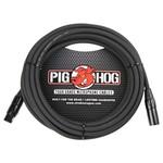 Pig Hog Pig Hog 8mm Tour Grade Microphone Cable, 25ft XLR (PHM25) Black (25', 25-foot)