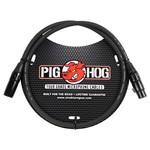 Pig Hog Pig Hog 8mm Tour Grade Microphone Cable, 3ft XLR Black (3', 3-foot)