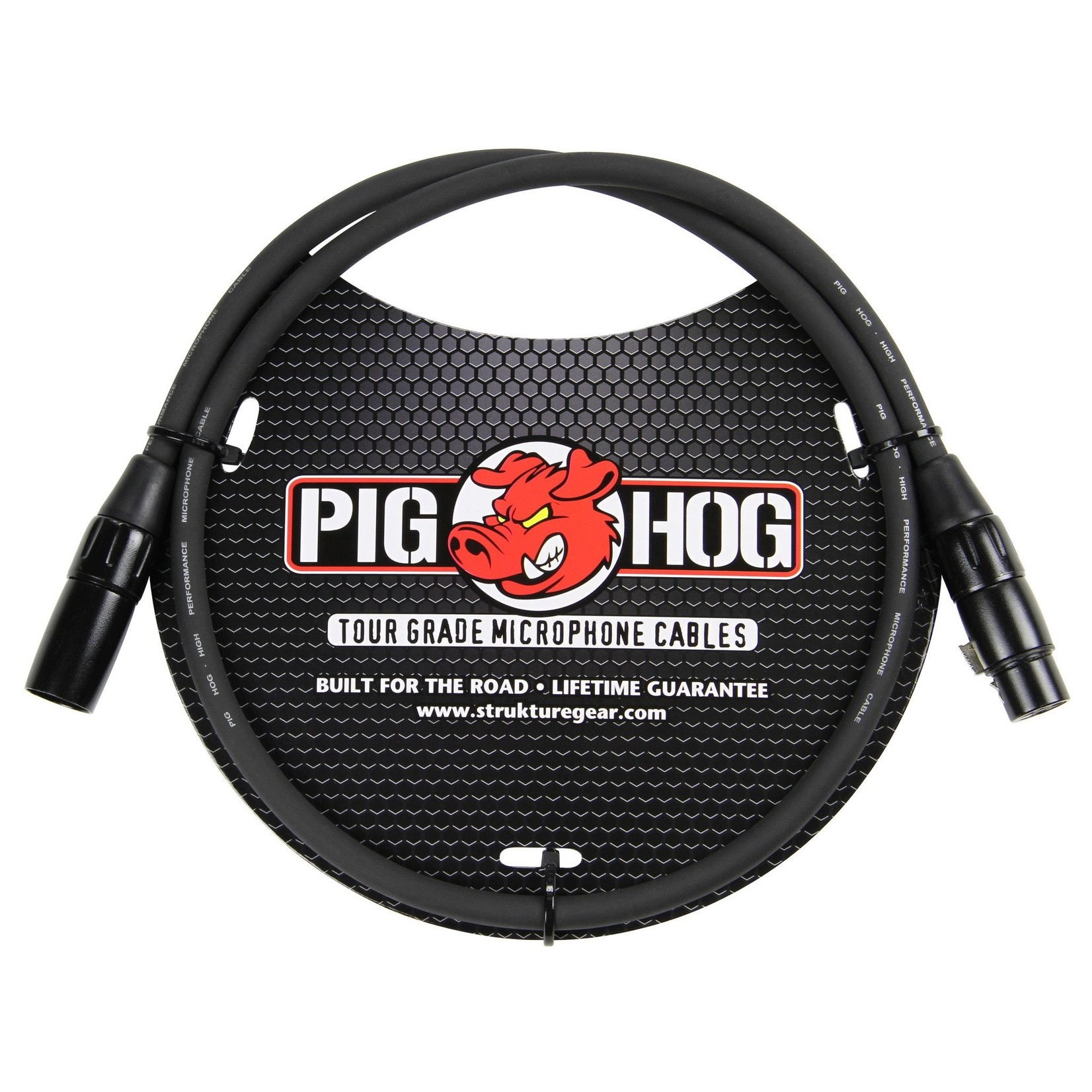 Pig Hog Pig Hog 8mm Tour Grade Microphone Cable, 3ft XLR Black (3', 3-foot)