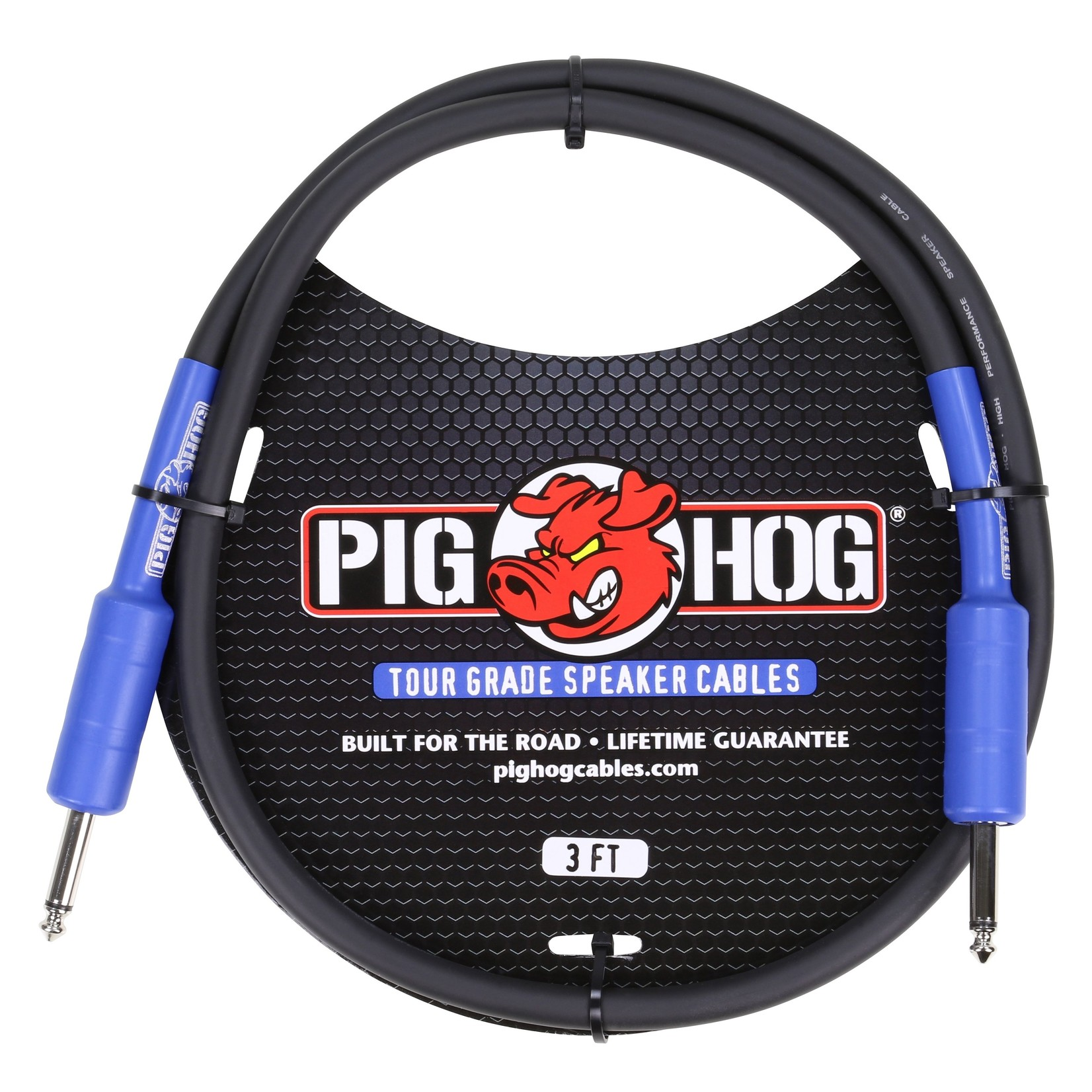 Pig Hog Pig Hog 9.2mm Tour Grade Speaker Cable, 3ft (14 gauge wire) (PHSC3)